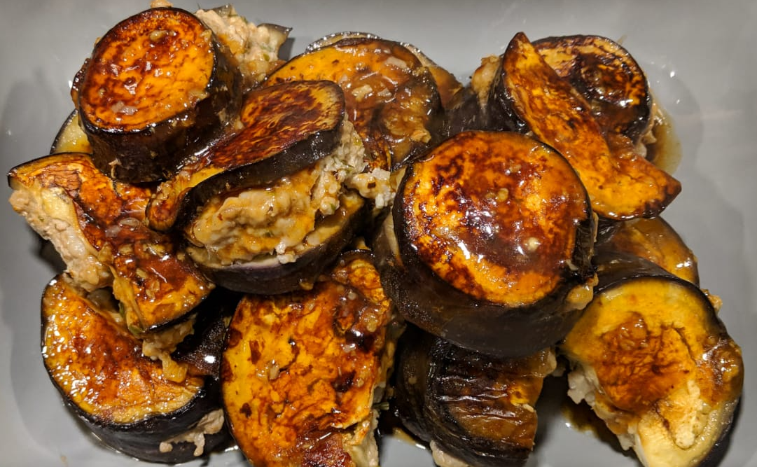 gevulde aubergine volgens chinees recept