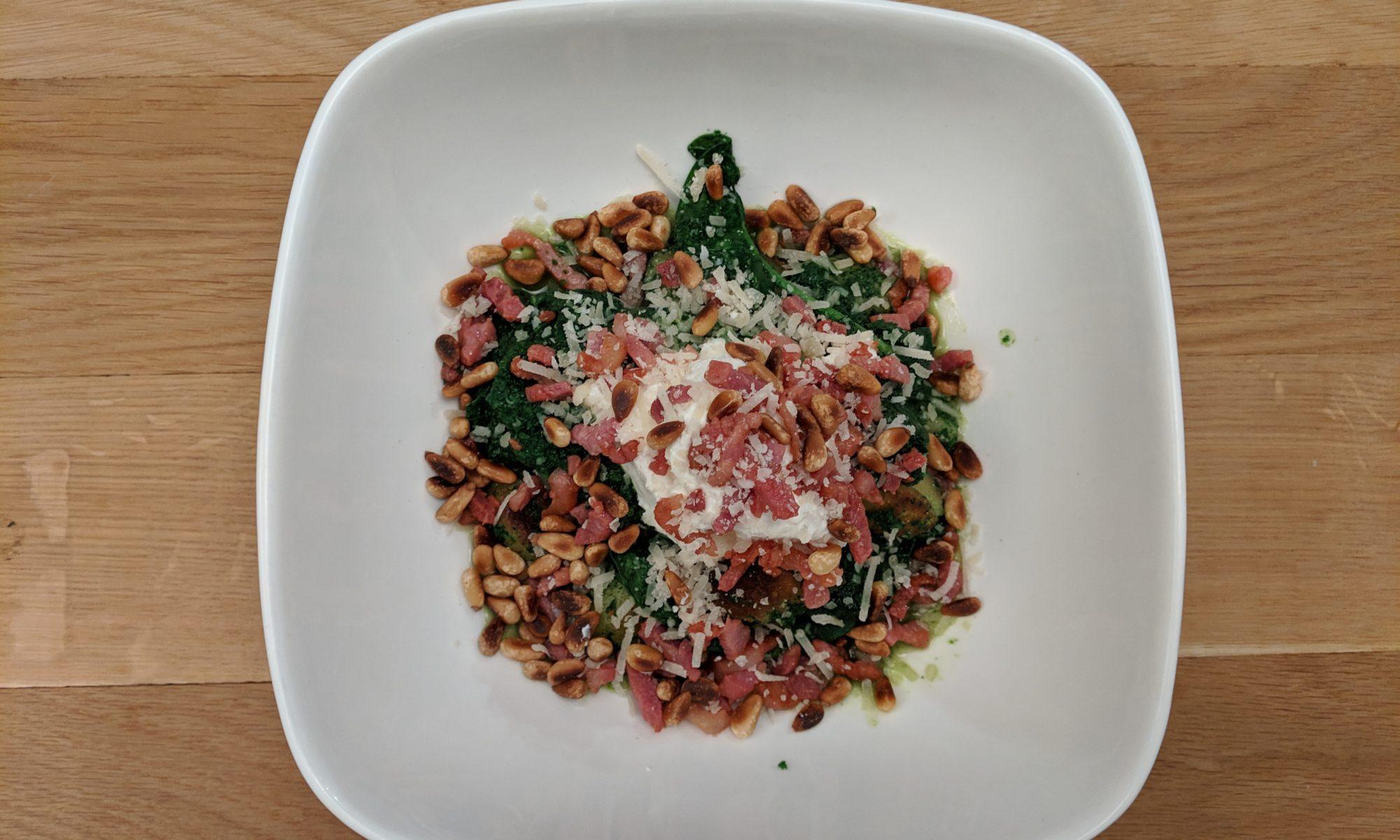 gnocchi met geroosterde knoflook, spinazie en ricotta Delicious magazine