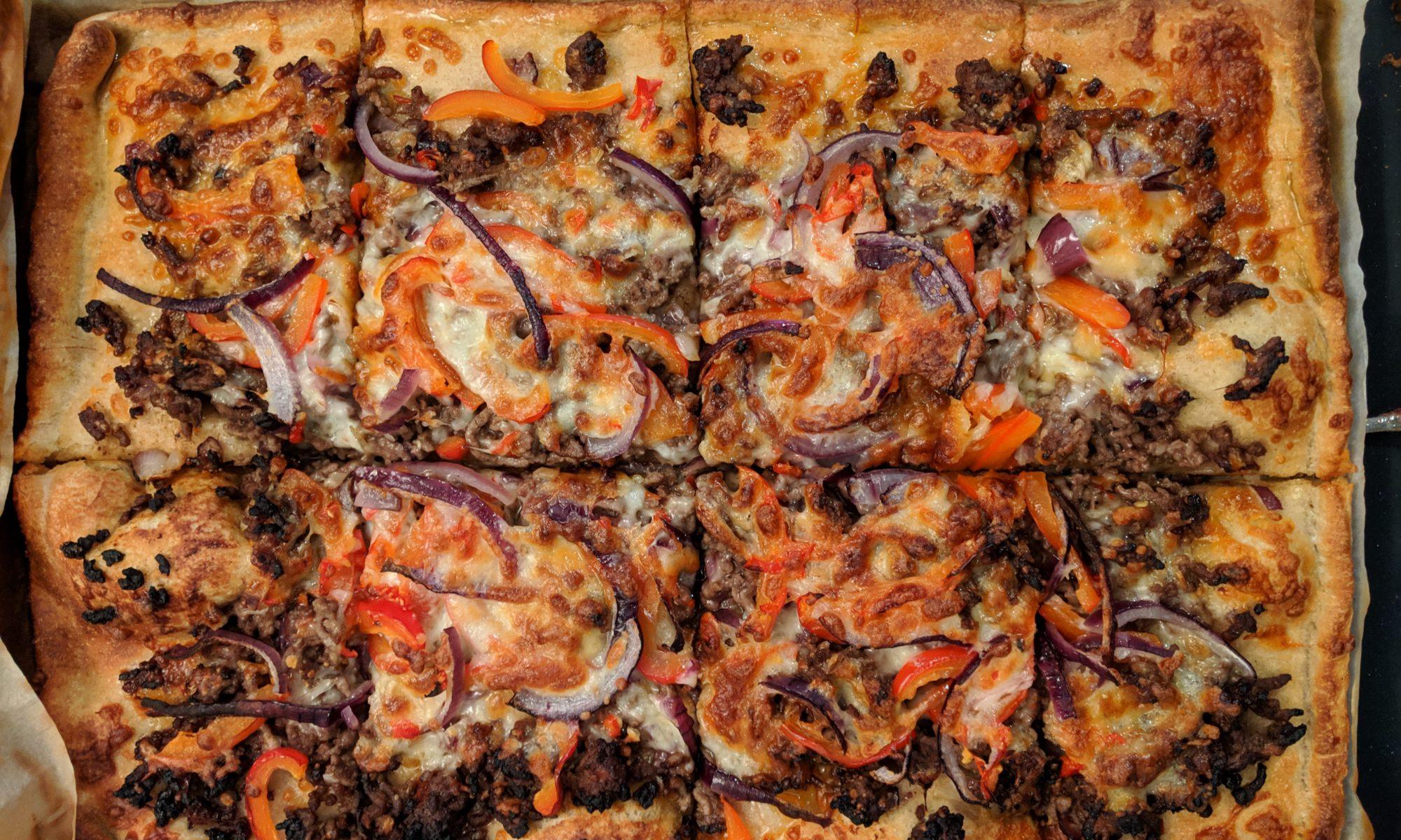 Thaise gehaktpizza pizzadeeg